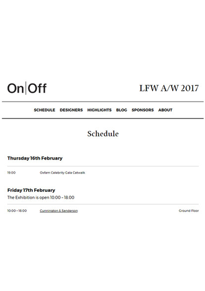 Cunnington & Sanderson Exhibition with On|Off London