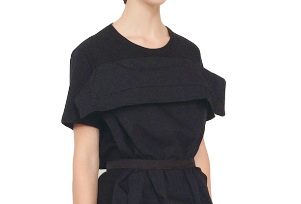 Pillow Dress Organic Black Challenge Innovative Designer Luxury British