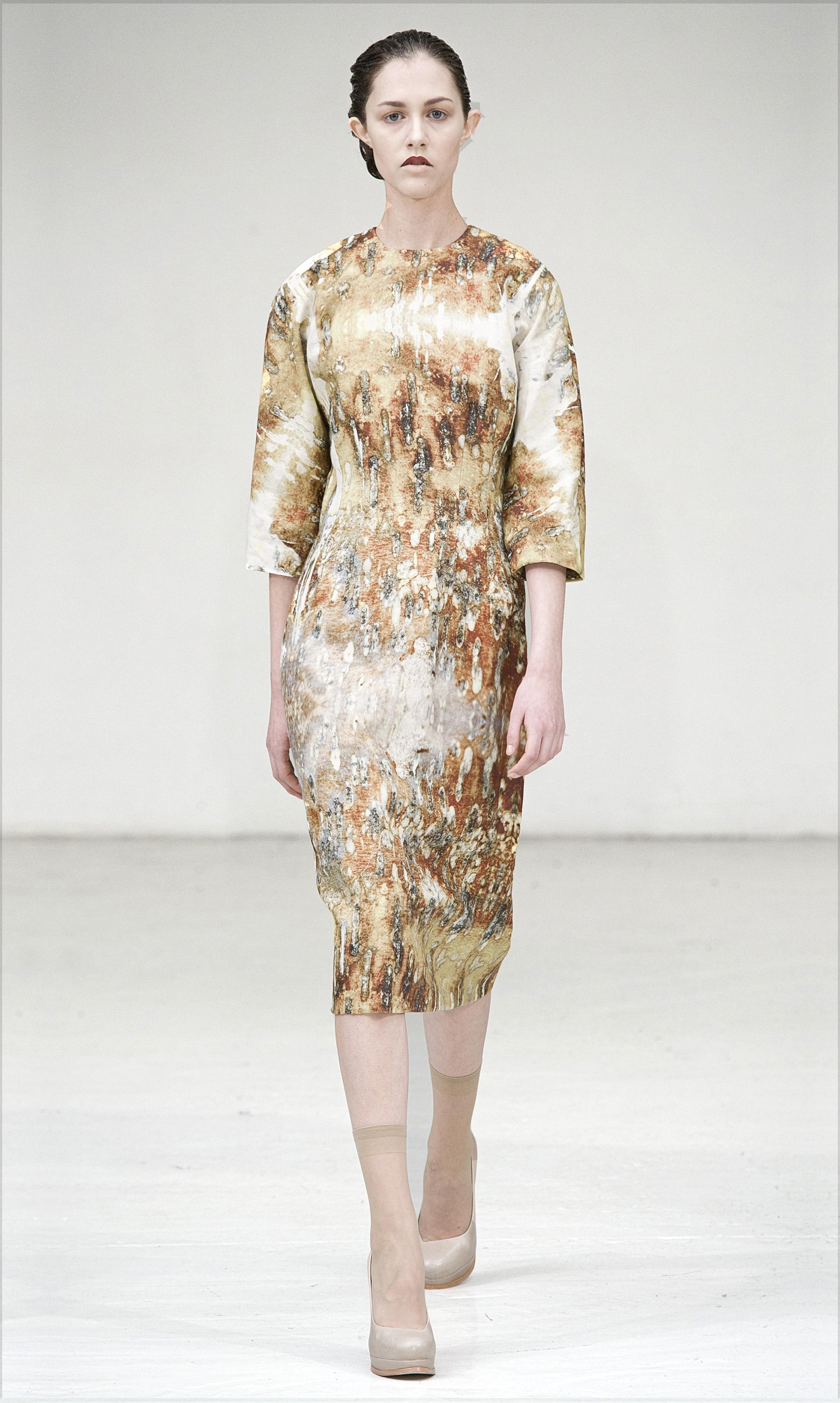 Restoration print dress