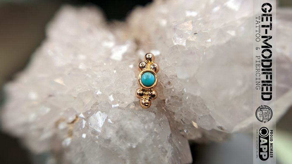 Anatometal Double Sabrina in 18ct Solid Gold