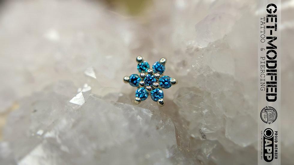 BVLA Flower Ocean Blue Diamond
