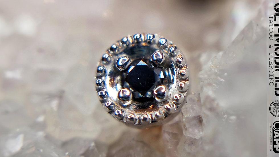 copy of BVLA Round Harlequin 2mm Black Diamond