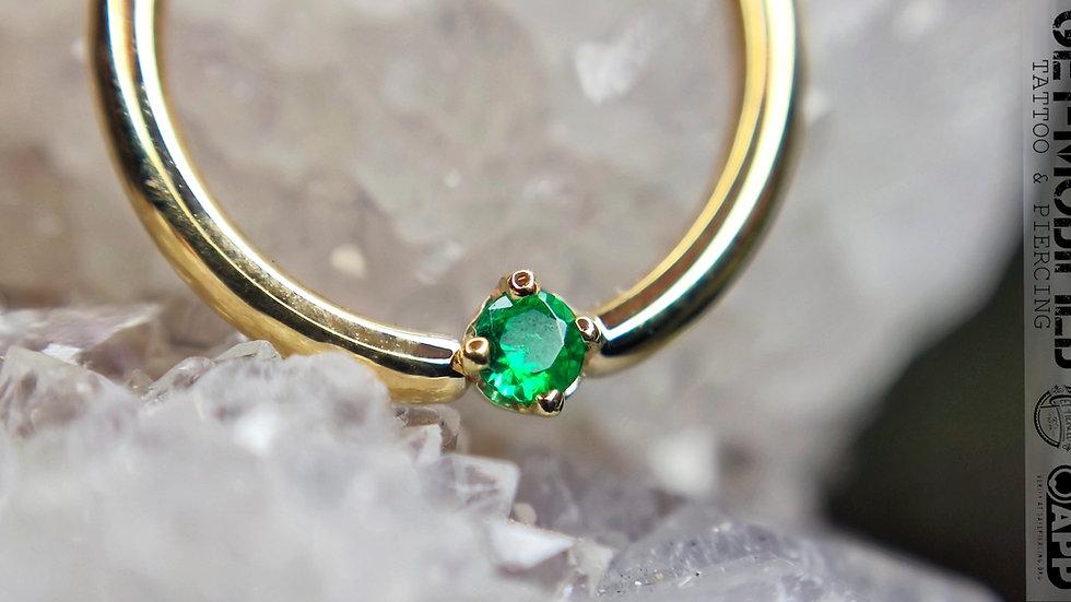 "BVLA 3/8""Round (AA) Emerald Seam Ring"