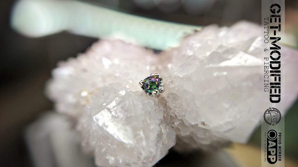 BVLA Beaded Trillion Mystic Topaz