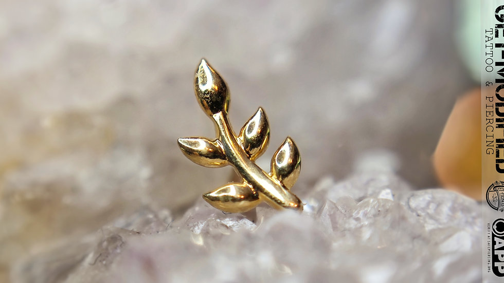 Tish Lyon Leaf in 14ct Solid Gold