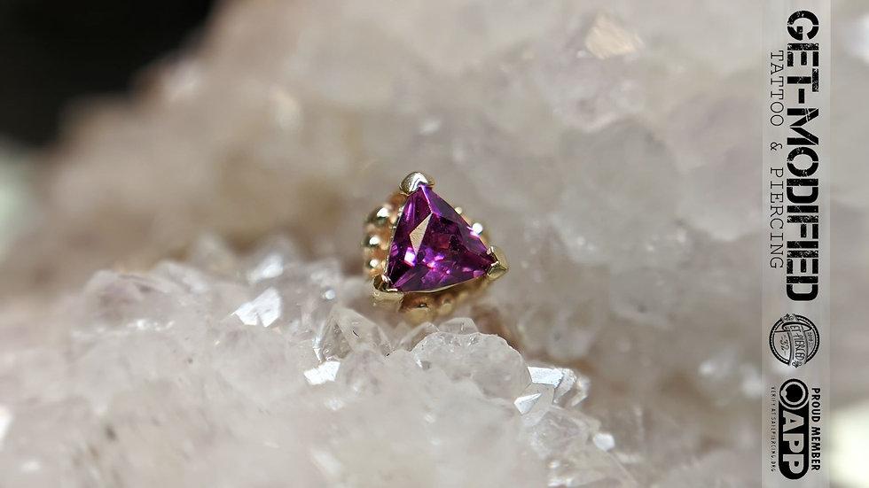 BVLA Beaded Trillion (AA) Rhodolite Garnet