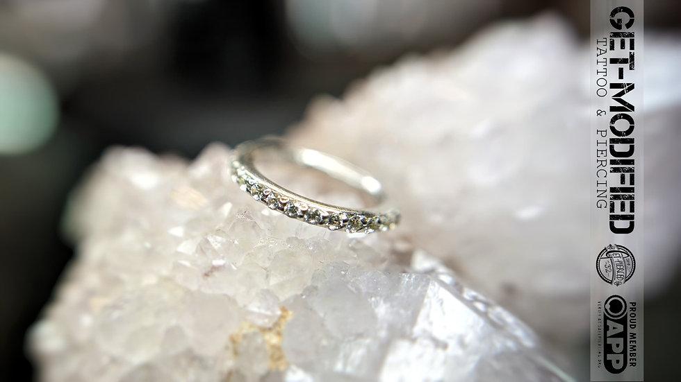 """Tish Lyon 5/16"""" x 16g Diamond Eternity Hinge Ring"""
