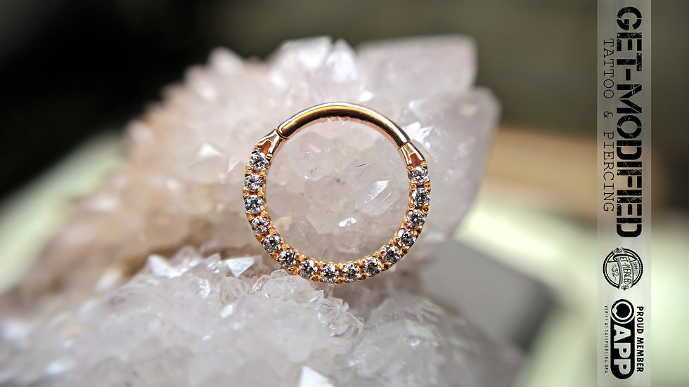 Classic Gold 10mm x 16g Cubic Zirconia Front Facing Eternity Ring