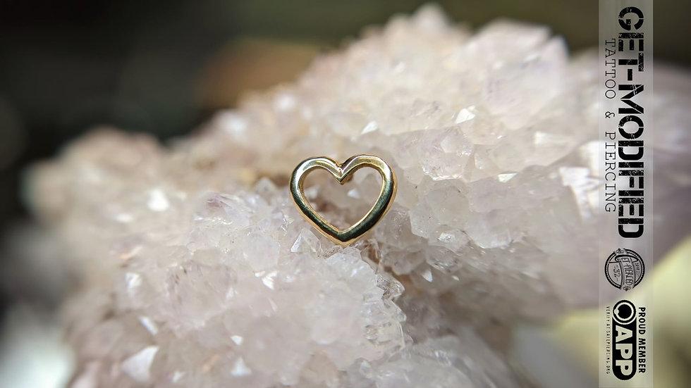 Auris 14g Open Heart
