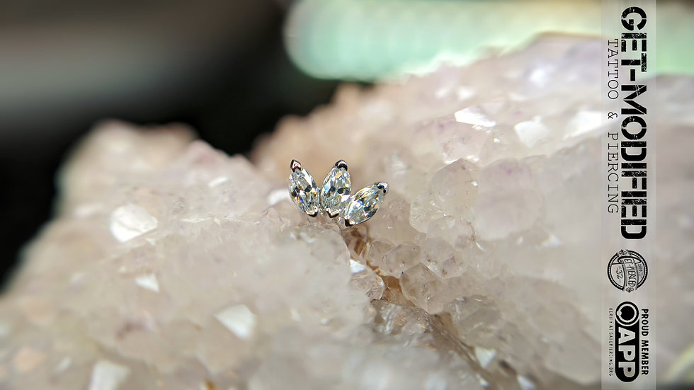Junipurr Triple Marquise CZ in 14ct Gold