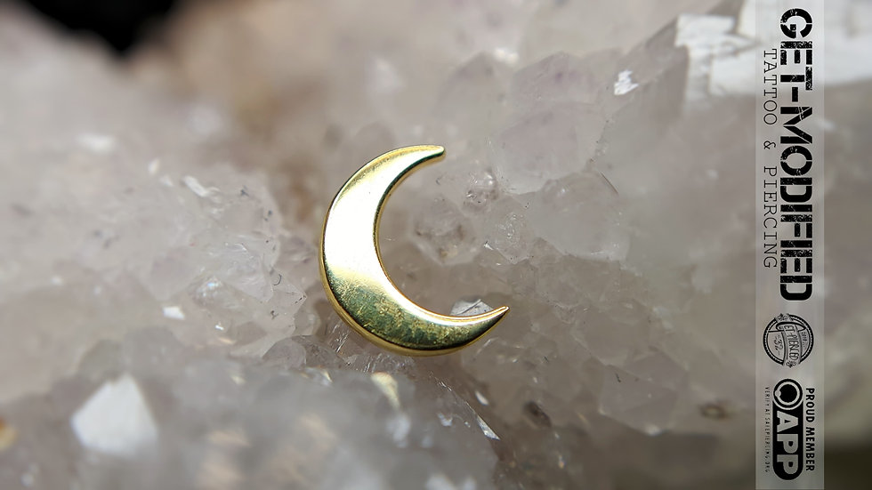 Anatometal Moon in 18ct Solid Gold