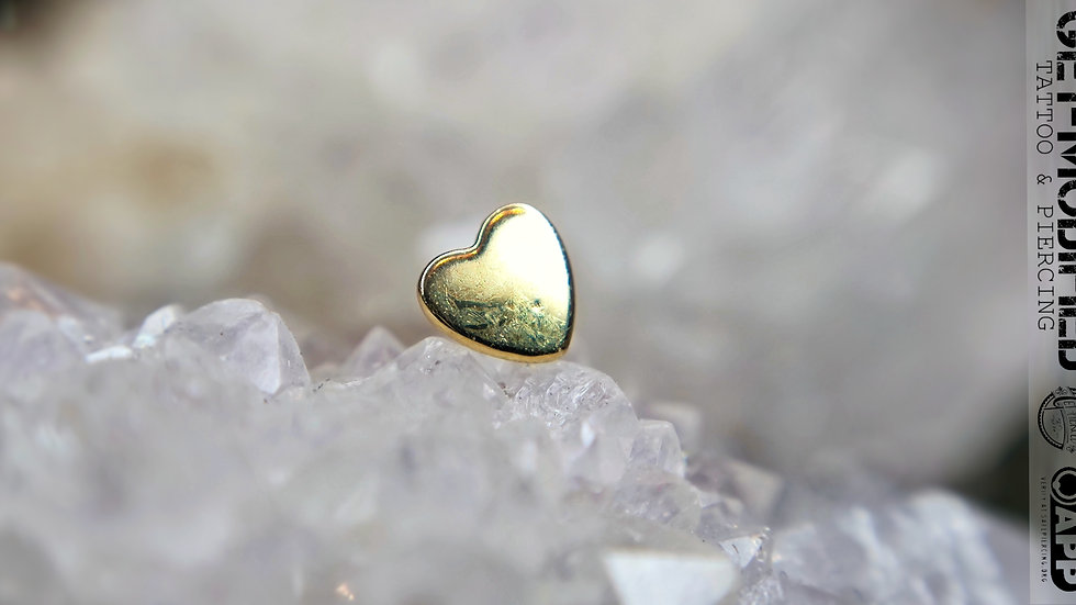 Tish Lyon Heart in 14ct Solid Gold