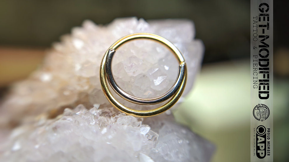 White Bear Struix Seam Ring in 14ct Gold