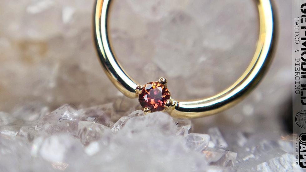 """BVLA 3/8""""Round Anastasia Topaz Seam Ring"""