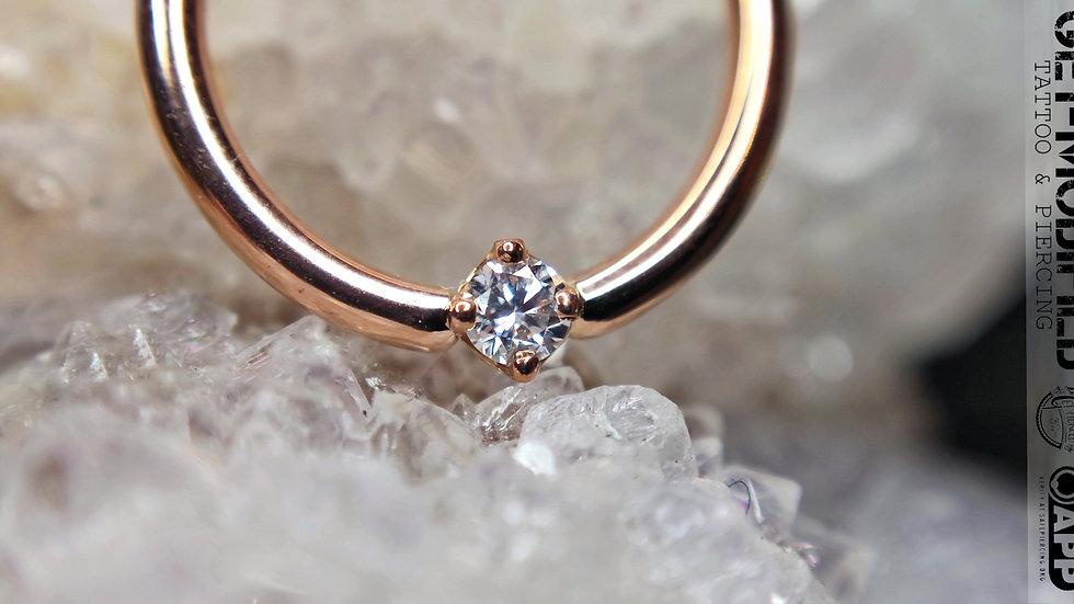 """BVLA 3/8""""Round (VS) Diamond Seam Ring"""