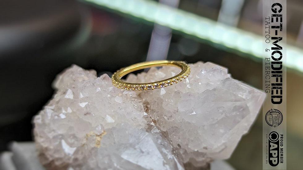Classic Gold 12mm x 16g Cubic Zirconia Eternity Ring