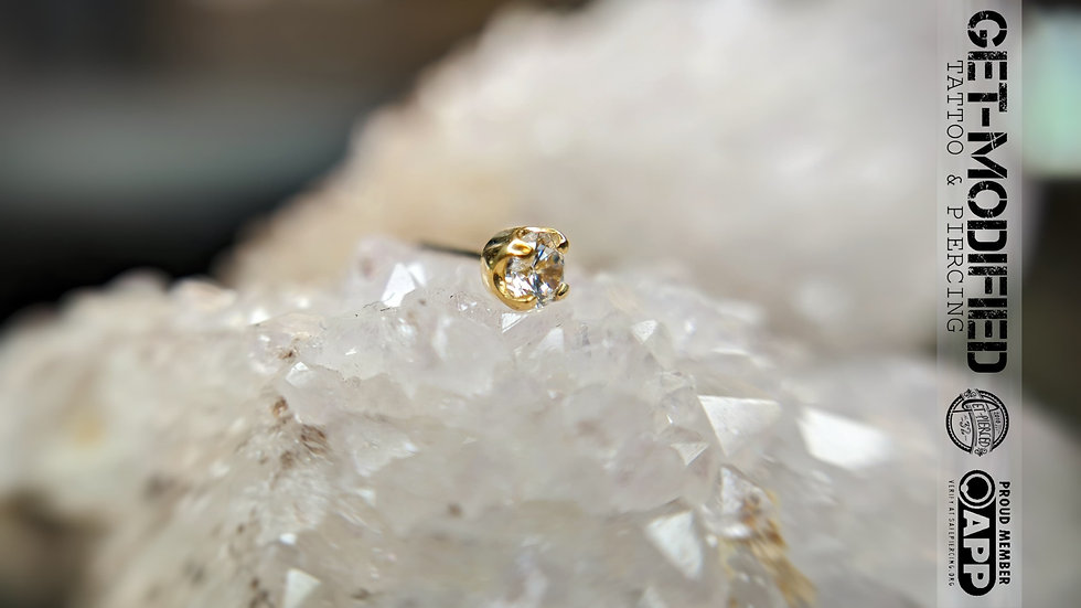 Junipurr Prong Set 2.5mm CZ in 14ct Gold