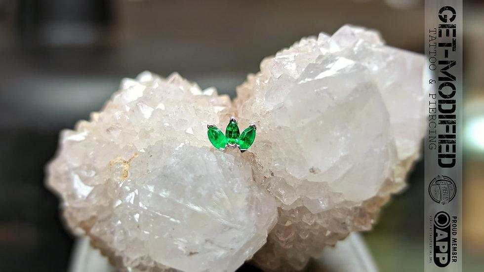 BVLA Triple Marquise Fan (AA) Emerald