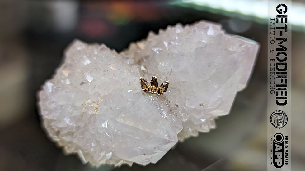 BVLA Triple Marquise Fan Smoky Quartz