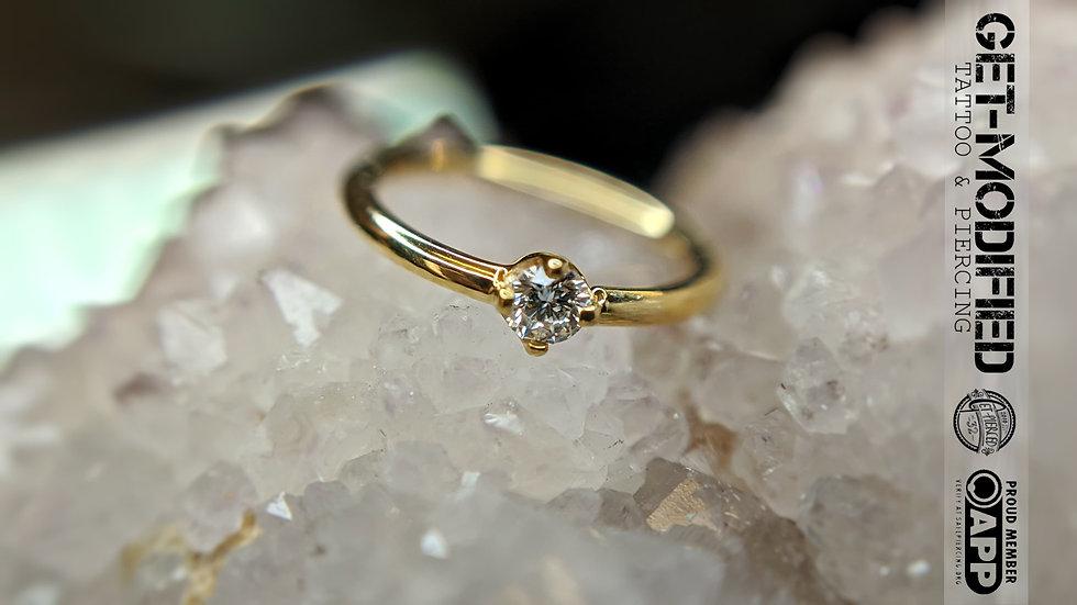 "BVLA 5/16"" x 18g Prong Set Seam Ring (VS) 2mm Diamond"