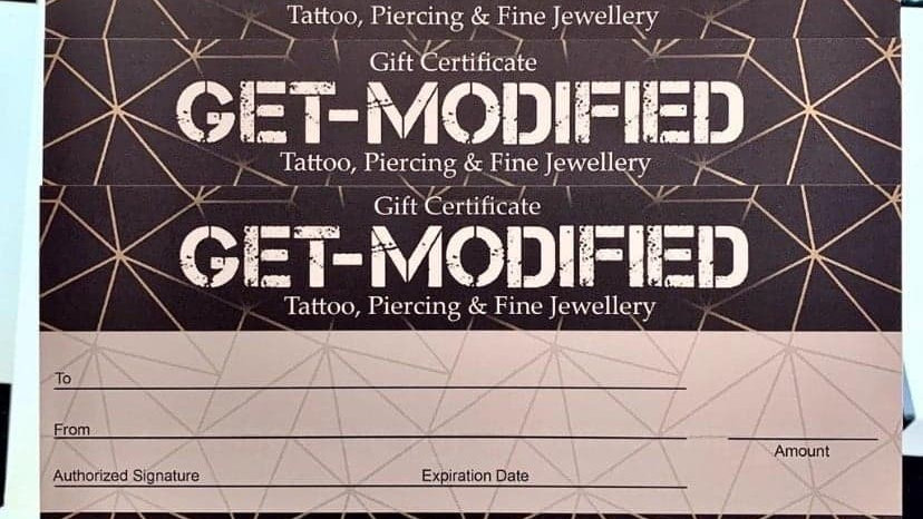 Get-Modified Gift Certificates