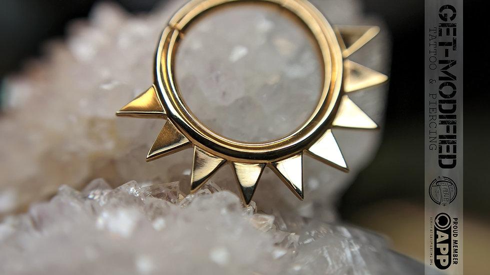 """Auris 3/8"""" x 14g Desert Sun Hinge Ring"""
