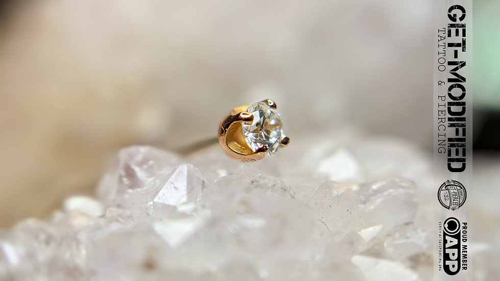 Classic 18ct Gold 2mm Prong Set Cubic Zirconia