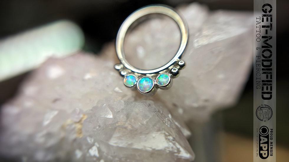 "BVLA 3/8"" Barra Seam Ring (AAA) Opal"