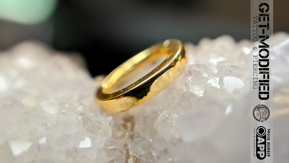 Tish Lyon Elliptical Rook Ring in 14ct Gold