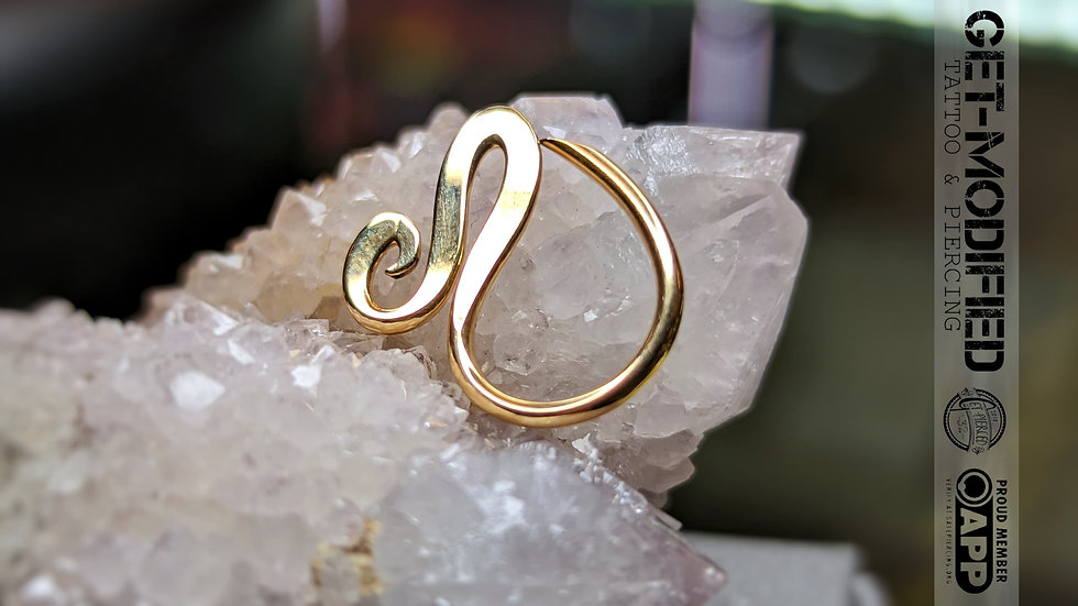 Interstellar Jewellery Productions Hand Made 14ct Gold Seam Ring