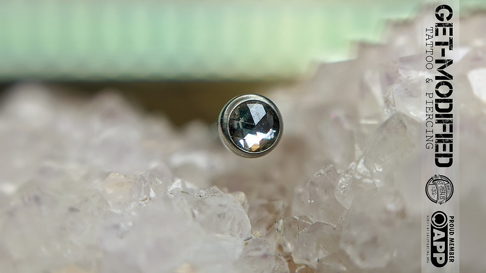 Neometal 2.5mm Rose Cut White Topaz Threadless