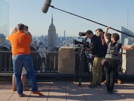 It's not Hollywood; it's New York film production.