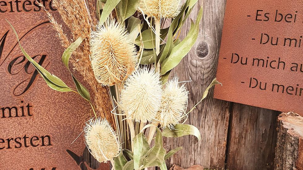 """Trockenblumenstrauß """"Natur"""" mit Vase"""