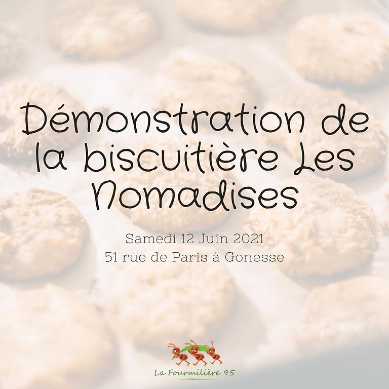 Démonstration de la biscuitière Les Nomadies