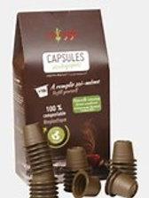 100 capsules écologiques pour le café