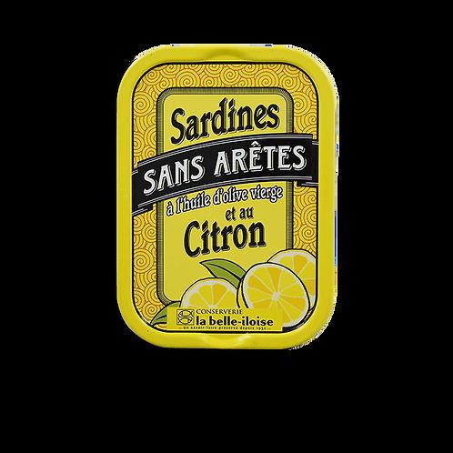 Sardines sans arêtes au citron