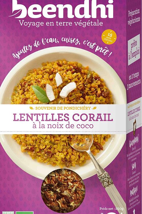 Lentilles corail à la noix de coco