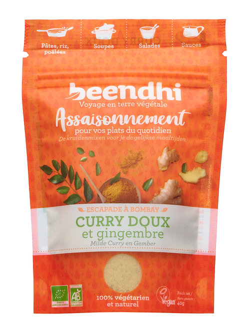 Curry doux et gingembre (40gr)