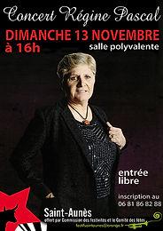 Concert à Saint Aunès, le 13 novembre 2016 à 16h, Salle polyvalente