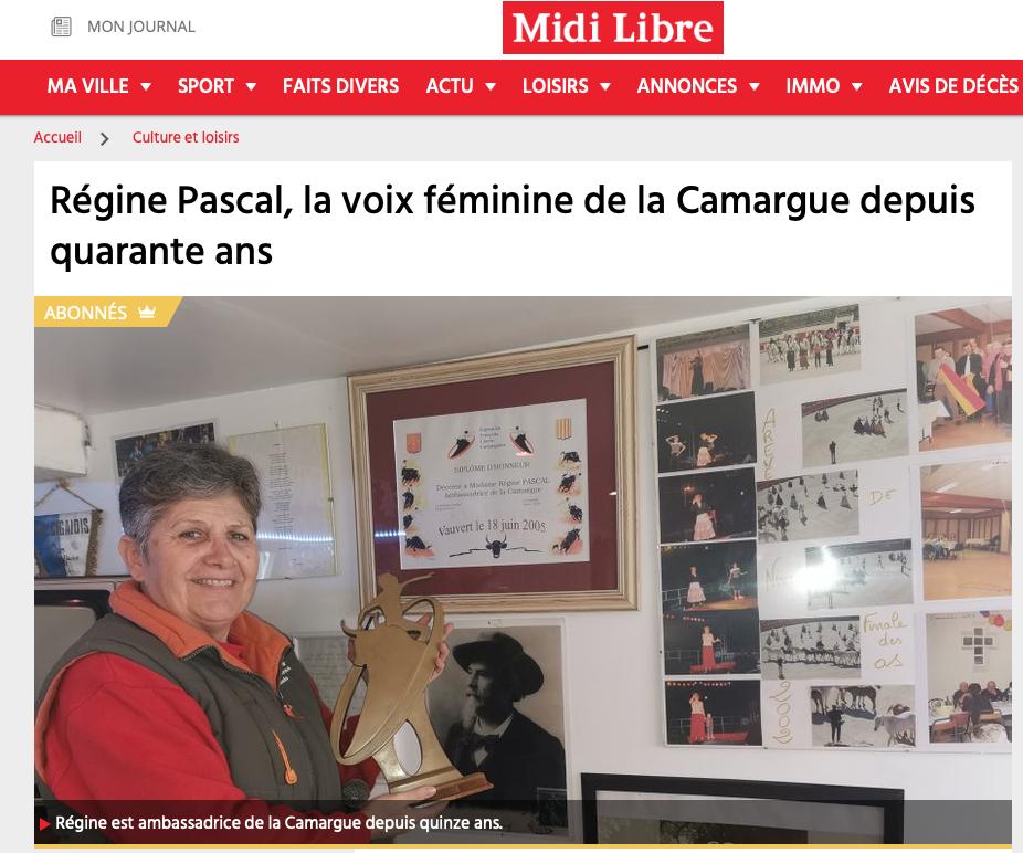 Régine Pascal, la voix féminine