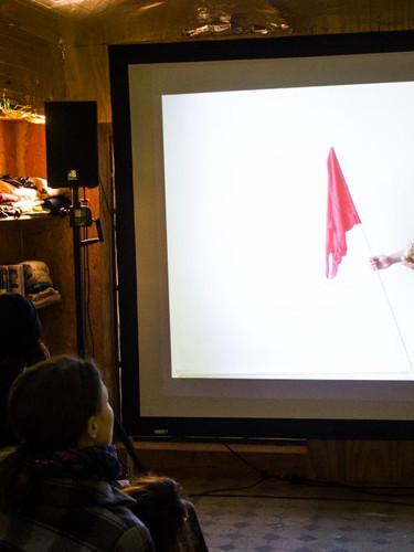 Abschlusspräsentation Film Kontexturen / Foto: Laurie Mlodzik