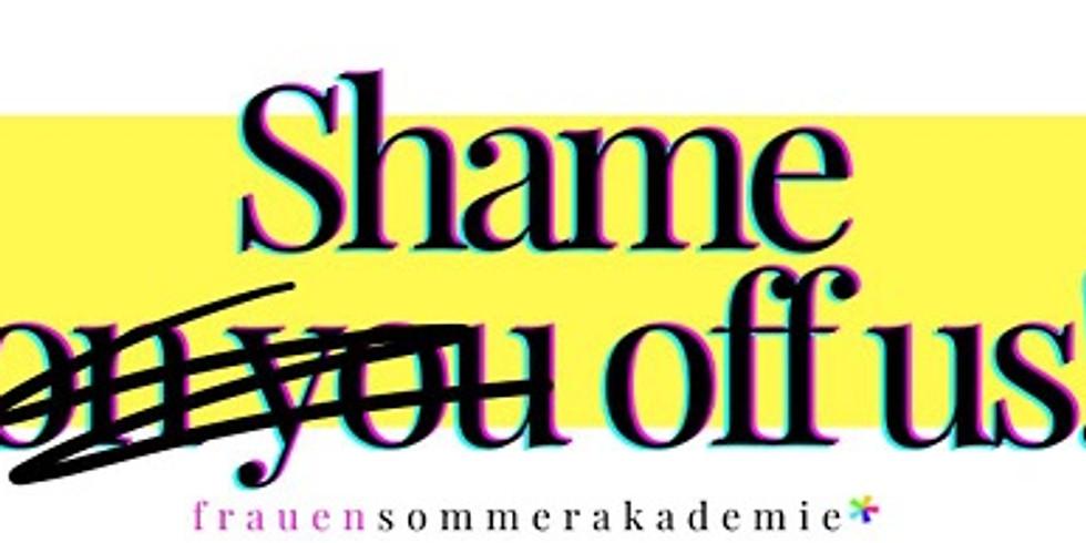 """Shame off us! Vortrag gegen Mythos """"Jungfernhäutchen"""" und für die Ent-scham-isierung der Vulvasphäre auf der FSA*"""