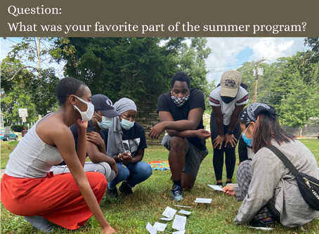 End of Summer Musings from the Youth Crew!