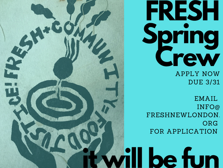 Apply Now: Spring CREW Stipends!