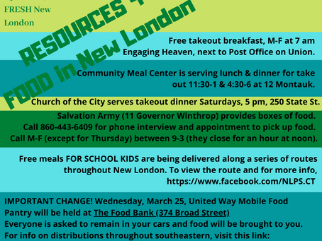 Food Resources in New London Updated!