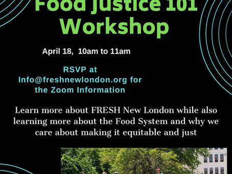 Virtual Food Justice Workshop