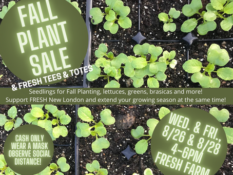Fall Plant Sale, two dates, lots of seedlings!