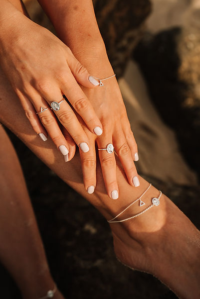 Fire silver bracelets and rings and ankl