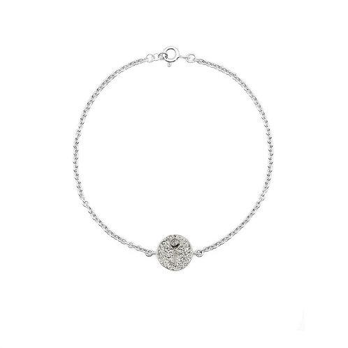 Silver Eihwaz Rune Bracelet