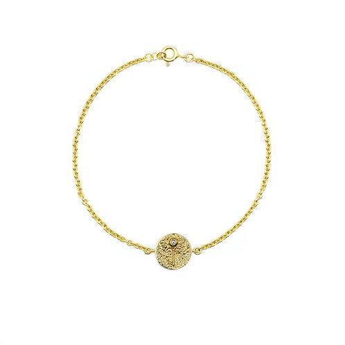 Gold Eihwaz Rune Bracelet